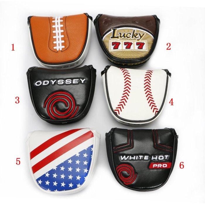 5C精選@Odyssey奧德賽高爾夫推杆套 半圓推杆保護套磁鐵閉合正品