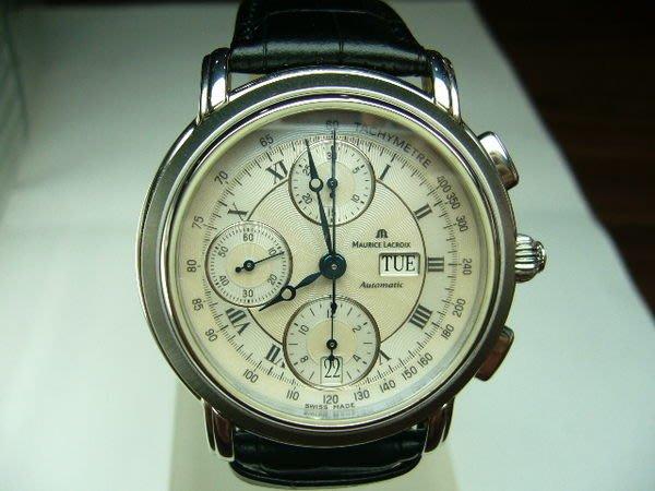 [吉宏精品交流中心]Maurice Lacroix 艾美 自動機械 計時碼錶(表背裸空)