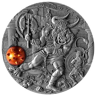 【閒雲雅士】限量銀幣 (#3) — 古代神話系列[2] Minotaur牛頭怪 and Theseus忒修斯  2017