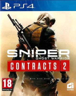 【全新未拆】PS4 狙擊之王 幽靈戰士 契約2 SNIPER CONTRACTS 2 中文版 附首發特典DLC序號 台中