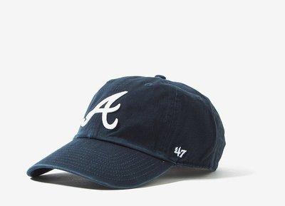 【YZY台灣】47 BRAND ATLANTA BRAVES 大勇士 老帽 復古帽 老爺帽 MLB LOGO 深藍色