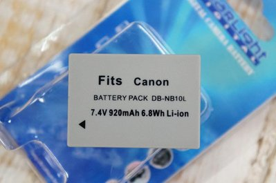 【中壢NOVA-水世界】CANON DB-NB10L NB10L NB-10L 副廠 鋰電池 充電池【1年保固直接換新】
