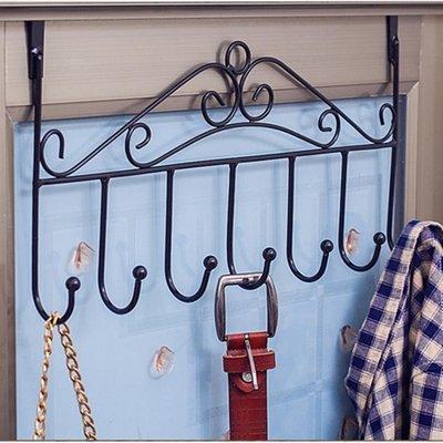 門后掛鉤免釘門上掛衣架毛巾架門背式置物架無痕衣帽架壁掛衣服架ღ♬【普思客】