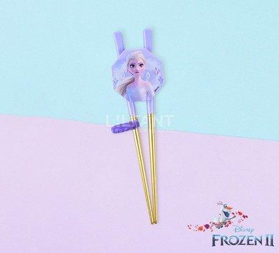 ♀高麗妹♀韓國 Disney FROZEN II 冰雪奇緣2 艾莎304不鏽鋼第2階段練習筷.學習筷.汰金材質(預購)