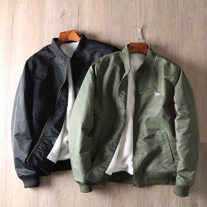 ☆MR.STORE.A☆日單厚款保暖抓絨MA1飛行夾克棒球外套(2色)~預購+現貨