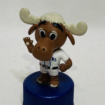 貳拾肆棒球~ 帶回美國職棒大聯盟MLB西雅圖水手隊吉祥物Moose 搖頭公仔PEPSI瓶蓋板