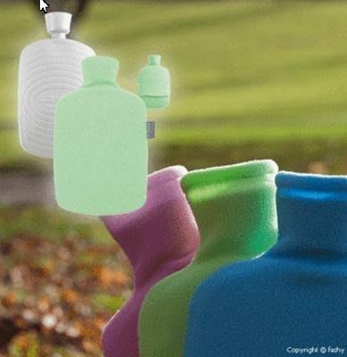 【宇冠】德國fashy 綠色環保硬款搖粒絨素色造型 1.6L冷/熱水袋,特價優惠$600元