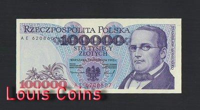 【Louis Coins】B484-POLAND-1993波蘭紙幣,100.000 Złotych
