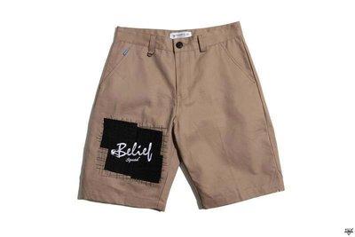 SQUAD Civic Hedonist Double Badges Short Pants 雙貼布短褲