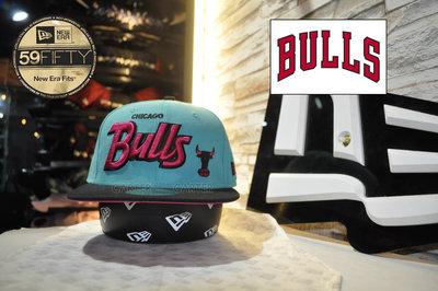 New Era x NBA Chicago Bulls Windy City 芝加哥公牛風城藍色桃紅全封棒球帽