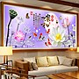 溫馨創意簡約新穎固曼家和九魚蓮花鉆石畫滿鉆5d磚石畫大幅客廳九魚蓮花風景畫