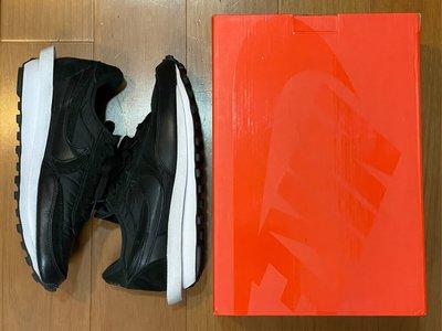 Sacai x Nike LDWAFFLE 全黑 尼龍 皮革 二手正品 us9