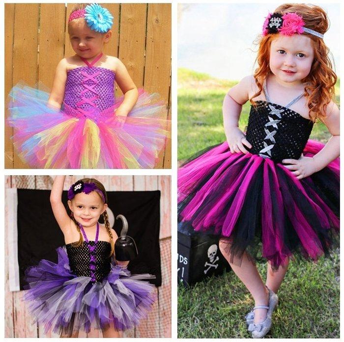 【小阿霏】兒童演出服 萬聖節小仙子交叉緞帶tutu紗裙連身裙造型服 女孩蓬蓬裙寶寶主題攝影寫真拍照主題表演洋裝CL253