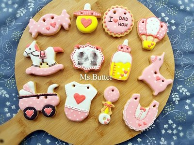 收涎糖霜餅乾-愛心點點系列8片組