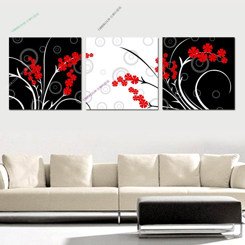 【30*30cm】【厚0.9cm】花卉-無框畫裝飾畫版畫客廳簡約家居餐廳臥室牆壁【280101_104】(1套價格)