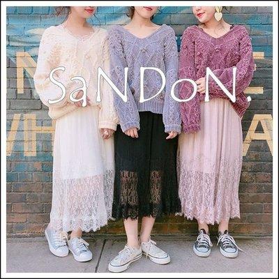SaNDoN x『one after another 』人手一定要買一件!! 精緻花邊蕾絲百搭透視長裙 171221