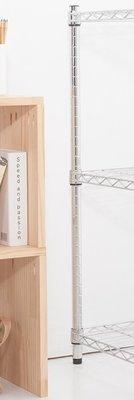 【M.S.魔法空間】90cm 鐵管(單支價格)【波浪架/鐵力士架/層架/鐵架/收納架/鍍鉻架/倉儲架】