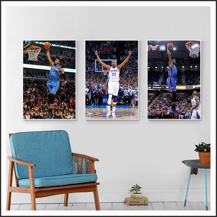 Kevin Durant 凱文·杜蘭特 NBA 海報 明星海報 藝術微噴 掛畫 嵌框畫 @Movie PoP ~