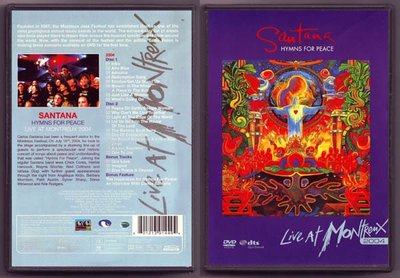音樂居士#Santana Hymns For Peace Live At Montreux 2004 (2/dts) DVD