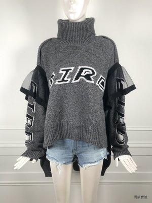 [我是寶琪] Preen By Thornton Bregazzi 灰色造型毛衣