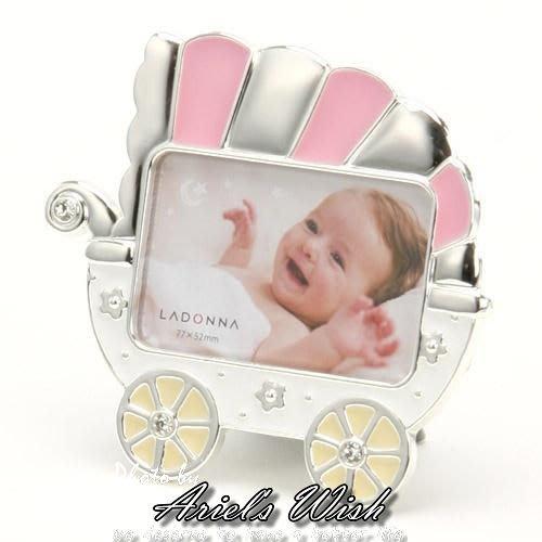 Ariel's Wish-日本限量品精緻娃娃推車相片相框架組嬰兒房兒童擺飾裝飾品 baby滿月彌月周歲送禮盒組-現貨*1