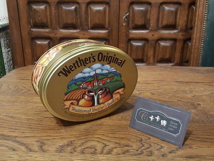 【卡卡頌 歐洲跳蚤市場/歐洲古董】歐洲老件_偉特牌 牛奶糖鐵盒 餅乾盒 質感收納 小物盒 m0462 提供租借✬