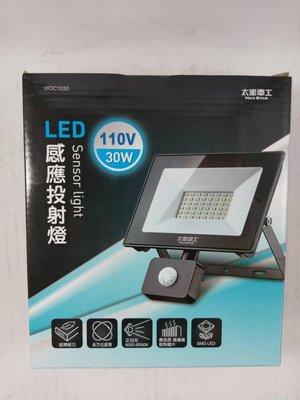☆一粒米☆ [太星電工]30W LED感應投射燈110V白光WDC-1030