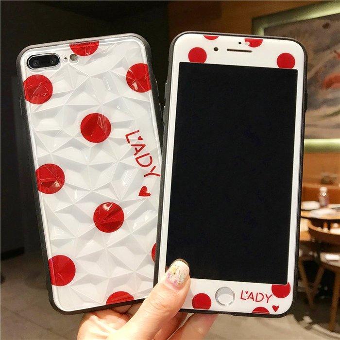 千夢貨鋪-蘋果7鋼化膜6s彩膜xsmax全包邊8手機殼xr全屏覆蓋8plus玻璃