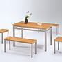 【人家人具】木紋雙人板凳椅(木紋檯面板/ 烤...