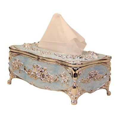 歐式紙巾盒奢華高檔抽紙盒客廳家用餐桌紙巾盒酒店賓館塑膠紙抽盒