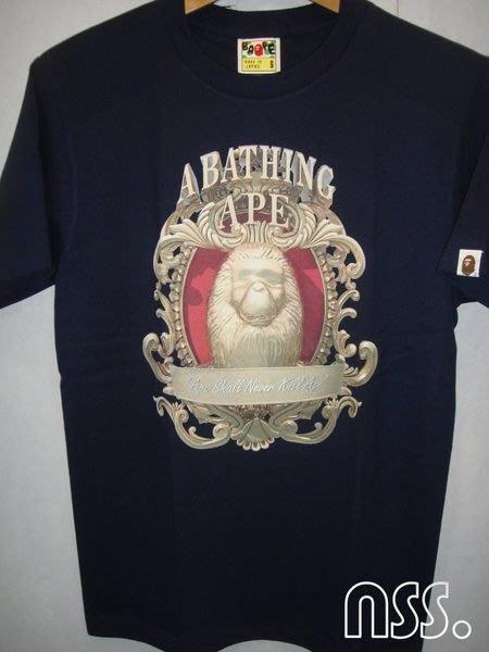 特價【NSS】 A BATHING APE BAPE 短T 藍 S