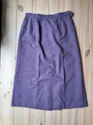 歐美 country casuals 羊毛 秋冬 葡萄紫色 過膝裙