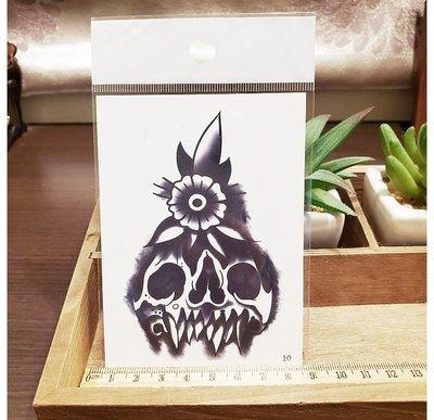 【萌古屋】】花朵骷顱頭 - 手背防水紋身貼紙刺青貼紙10 K12