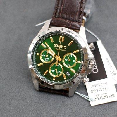全新現貨 可自取 SEIKO SBTR017 手錶 40mm 日本限定 綠面盤 咖啡皮錶帶 男錶女錶