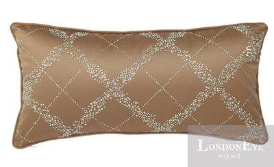 【 LondonEYE 】NeoClassic新古典X奢華織品系列X腰枕套 精品菱格鑲立體鑽 豪宅/樣品屋 CN18