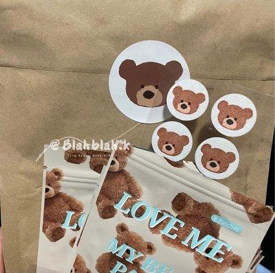 韓國 泰迪熊 熊熊 貼片 小熊 芳香貼 口罩貼片 口罩貼紙 香氛貼片 口罩芳香貼紙
