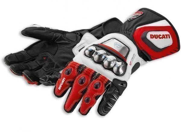 【購物百分百】2014款杜卡迪Ducati Corse 鈦合金 碳纖維真皮長款機車手套 騎士防摔手套 摩托車賽車手套 麥