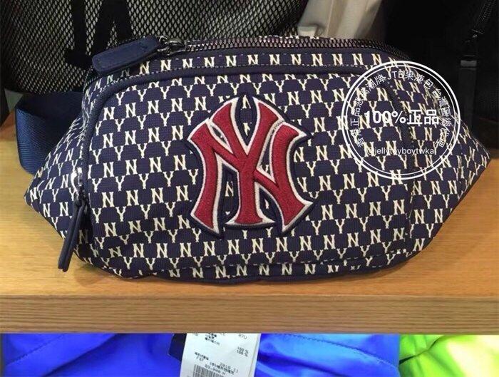 7月份接單 藍色下標區 GUCCI 洋基LOGO 全新正品 MLB NEW YORK YANKEES 滿版老花腰包
