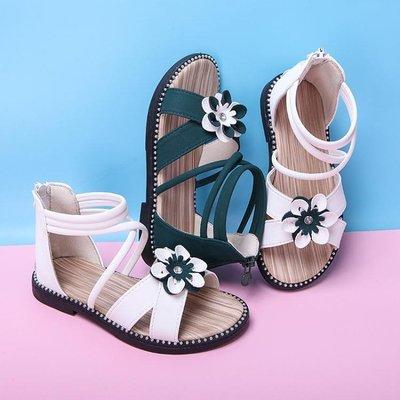 女童涼鞋 9新款夏季韓版時尚中大童兒童沙灘鞋軟底女寶寶公主鞋【大賣家】