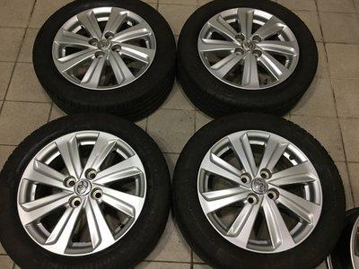 99新 豐田 yaris原廠 新款 4孔100 15吋鋁圈含輪胎 VIOS TERCEL CORONA COROLLA