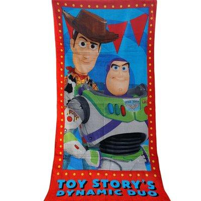 [現貨]玩具總動員4浴巾 Dynamic Duo胡迪 巴斯光年Toy Story角色 洗澡運動健身巾跑步 交換生日禮物