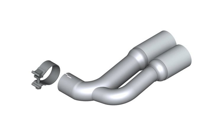 【樂駒】BMW F26 X4 20i 原廠 改裝 單邊 雙出 尾飾管 套件 金屬