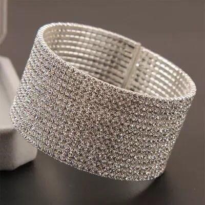 百搭寬手鍊 滿鑽 鑽石手鍊 手串 女 簡約 學生首飾