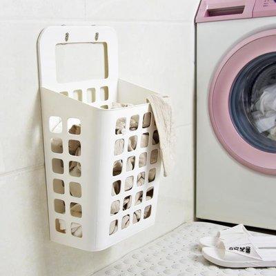 浴室吸盤壁掛式髒衣籃髒衣服籃子收納筐塑料收納籃洗衣籃髒衣簍RM