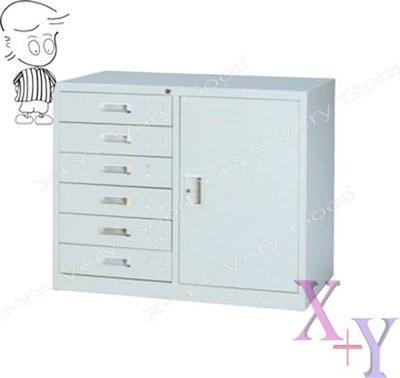 【X+Y時尚精品傢俱】 辦公櫥櫃系列- 單邊六抽屜鋼製公文櫃.鐵櫃.台南市OA辦公家具