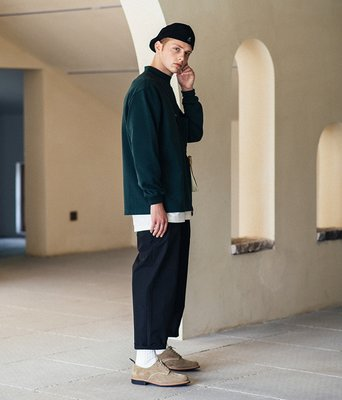 TSU真品代購 FONCTION LOOSE FIT GENTS TROUSER 復古寬鬆 九分休閒褲 cityboy