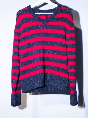 Dolce & Gabbana striped long-sleeved wool sweater. 長袖 毛衣 羊毛衣 條紋 杜嘉班納
