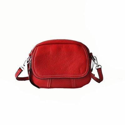 側背包 真皮 肩背包-迷你牛皮多隔層純色女包包6色73yj8[獨家進口][米蘭精品]
