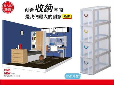 『699免運』發現新收納箱:收納達人80公分隙縫收納櫃,附輪(F740)。4層抽屜式,小空間好用,系統櫃/分類櫃/置物櫃
