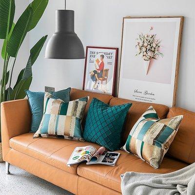 抱枕套 布藝 沙發抱枕套 靠墊簡約現代樣板房設計師抱枕 抽象高精密床上腰靠 沙發辦公室靠墊